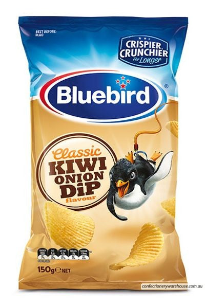 Bluebird Classic Kiwi Onion Dip Chips 150g