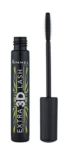 Rimmel London Extra 3D Lash Mascara, Smudge Proof and Lengthening Formula, Extreme Black, 8 g
