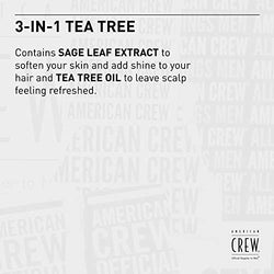 American Crew 3-in-1 Tea Tree Shampoo, Conditioner & Body Wash - 450ml