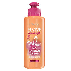 L'Oreal Hair Leave In Conditioner Cream by Elvive Dream Lengths No Haircut Cream for Long, Damaged Hair Keratin 200 ml
