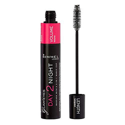Rimmel London Glam'Eyes Day To Night Mascara, Nourishing and Volume Boosting Formula with Vitamin E, Black