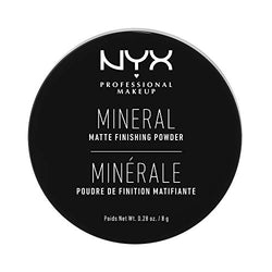 NYX Professional Makeup Mineral Finishing Powder, Loose Format, Matte Finish, Oil Absorbing, Vegan Formula, Shade: Light/Medium