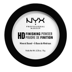 NYX Professional Makeup High Definition Finishing Powder, Pressed Powder, Skin Perfecting, Matte Finish, Oil Absorbing, Vegan Formula, Shade: Translucent