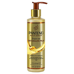 Pantene Gold Series Leave in Hair Conditioner Detangling Spray with Argan Oil and Sulphate Free for Curly, Coily, Wavy or Relaxed Hair, Leave in Conditioner Curly Girl Products with Argon Oil, 225 ml