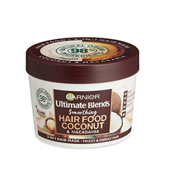 Garnier Hair Mask for Curly Hair | Coconut Hair Food by Garnier Ultimate Blends, 3-in-1: Conditioner, Hair Mask, Leave-in Hair Conditioner | 98 Percent Natural Origin | 390 ml