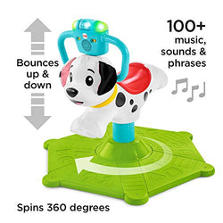 Fisher-Price GHY03 Bounce and Spin Puppy, Stationary Musical Ride-On Toy, Multi-colour