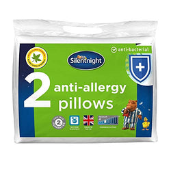 Silentnight Anti-Allergy Pillow - White, Pack of 2, Anti-Bacterial pillows
