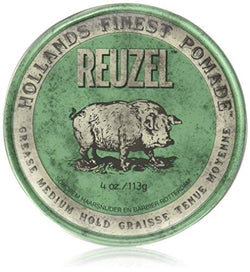 REUZEL Pomade Green Grease Medium Hold, 1 Pack (1 x 113 g)