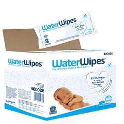 WaterWipes Baby Wipes Sensitive Newborn Skin, 1080 Wipes (18 Packs of 60 Wipes) (Packaging may vary)