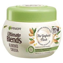 Garnier Ultimate Blends Hair Mask | Almond Crush Treatment Organic Almond Milk & Organic Agave Sap Daily Nourishment for Normal Hair | 300 ml