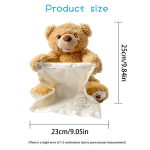 Children's Gifts Peep Teddy Bear Electric Facial Turning Shy Bear Plush Toy  Movable Bear Electric Plush Toy