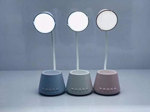 5 in 1HY-41 Bluetooth Speaker with Table Reading Lamp, LED Bulb with 3 Modes Low to high, Night Light