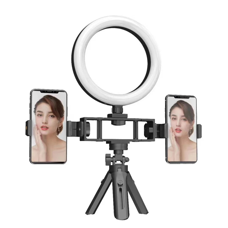 Photography  Selfie LED Ring Light  Makeup Video Light Usb Plug With Tripod For Phone