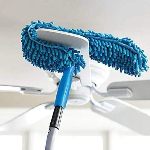 Flexible Microfiber Cleaning Duster with Extendable Rod for Home Car Fan Dusting