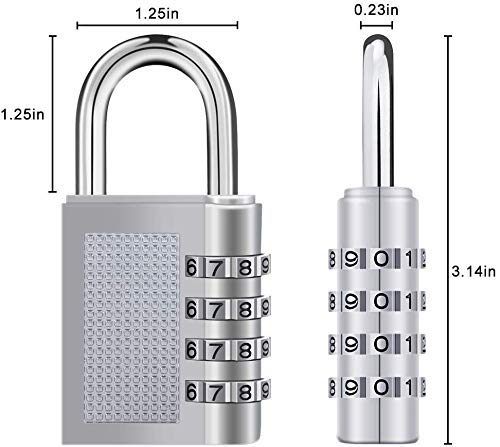 4-Digit Safe PIN Hand Bag Shaped Combination Padlock Lock