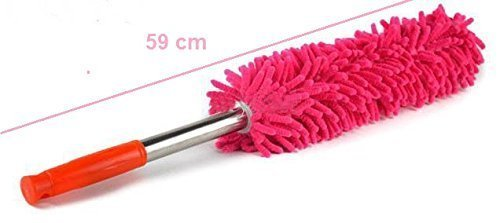 Multipurpose Microfiber Cleaning Duster with Extendable Telescopic Wall Hanging Handle, Standard