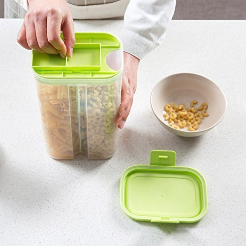 2 Sections Air Tight Transparent Food, Grain, Cereal Dispenser Storage Container Jar Storage containers,Masala Boxes for Kitchen,Masala containers