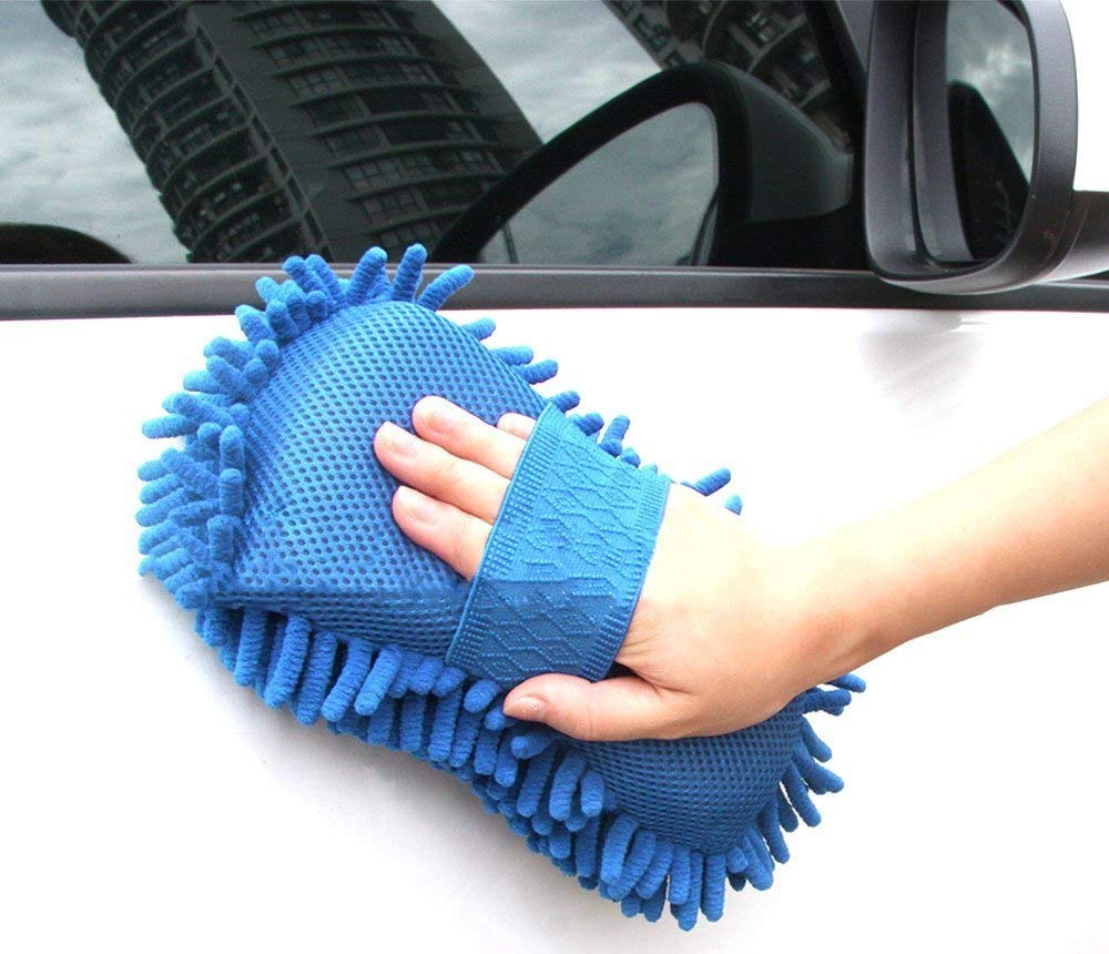 Styling Microfiber Washer Towel for Cleaning Car Microfiber Chenille Duster with Sponge