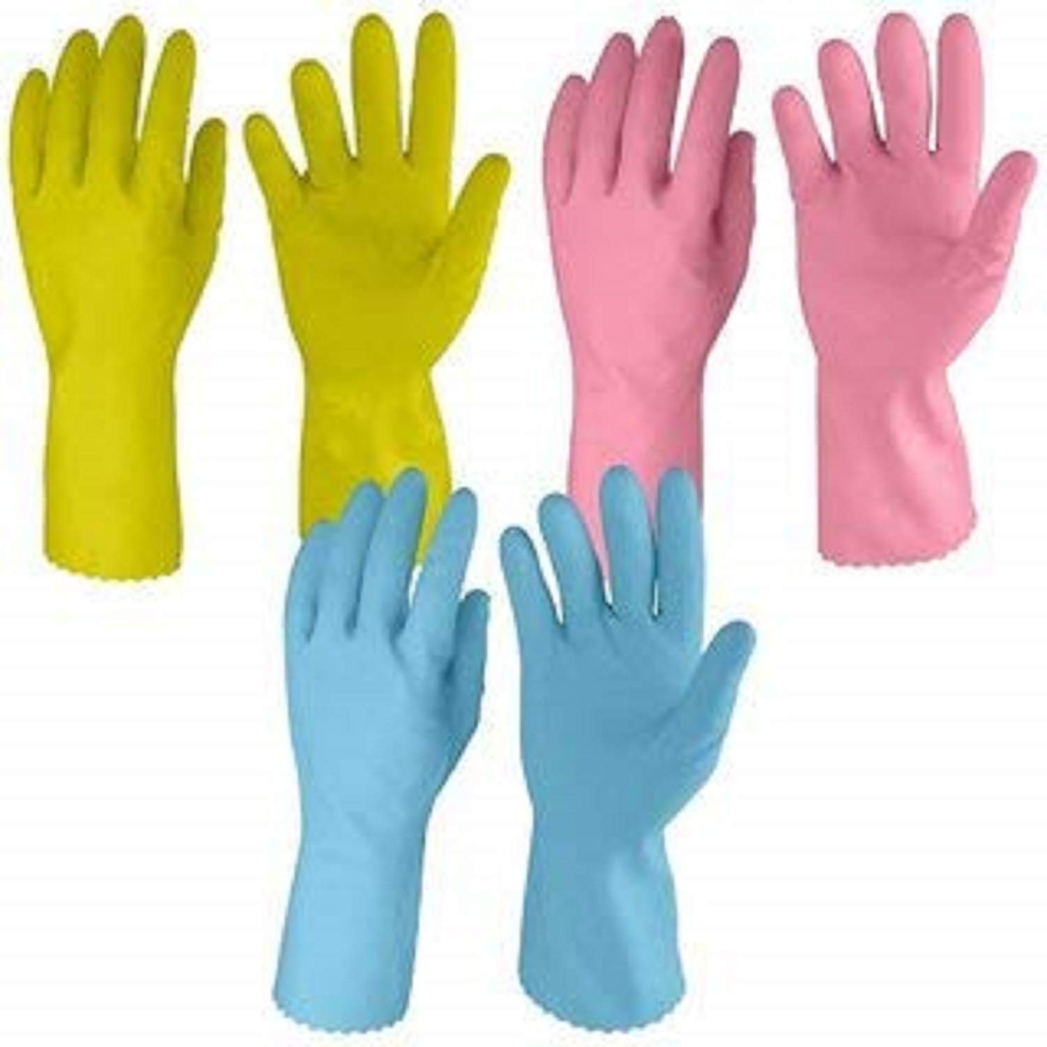 Cleaning Gloves Reusable Rubber Hand Gloves, Stretchable Gloves