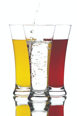 Premium Quality Poly Carbonate Stylish Transparent Glass of 300 ML Set of 6 Pieces.