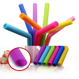 Food Grade Silicone Straws (4 pc)
