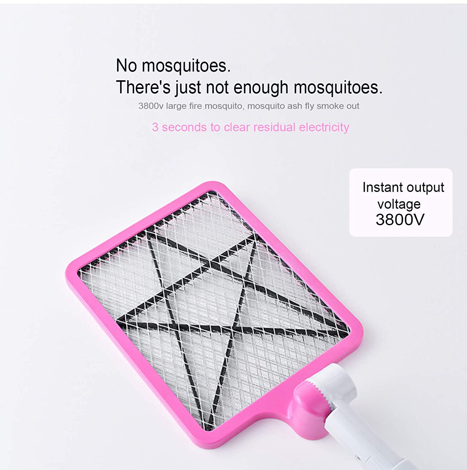 Electric Fly Swatter, Mosquito Killer Foldable and Extendable Mosquito Racket  Control Perfect for Indoor and Outdoor
