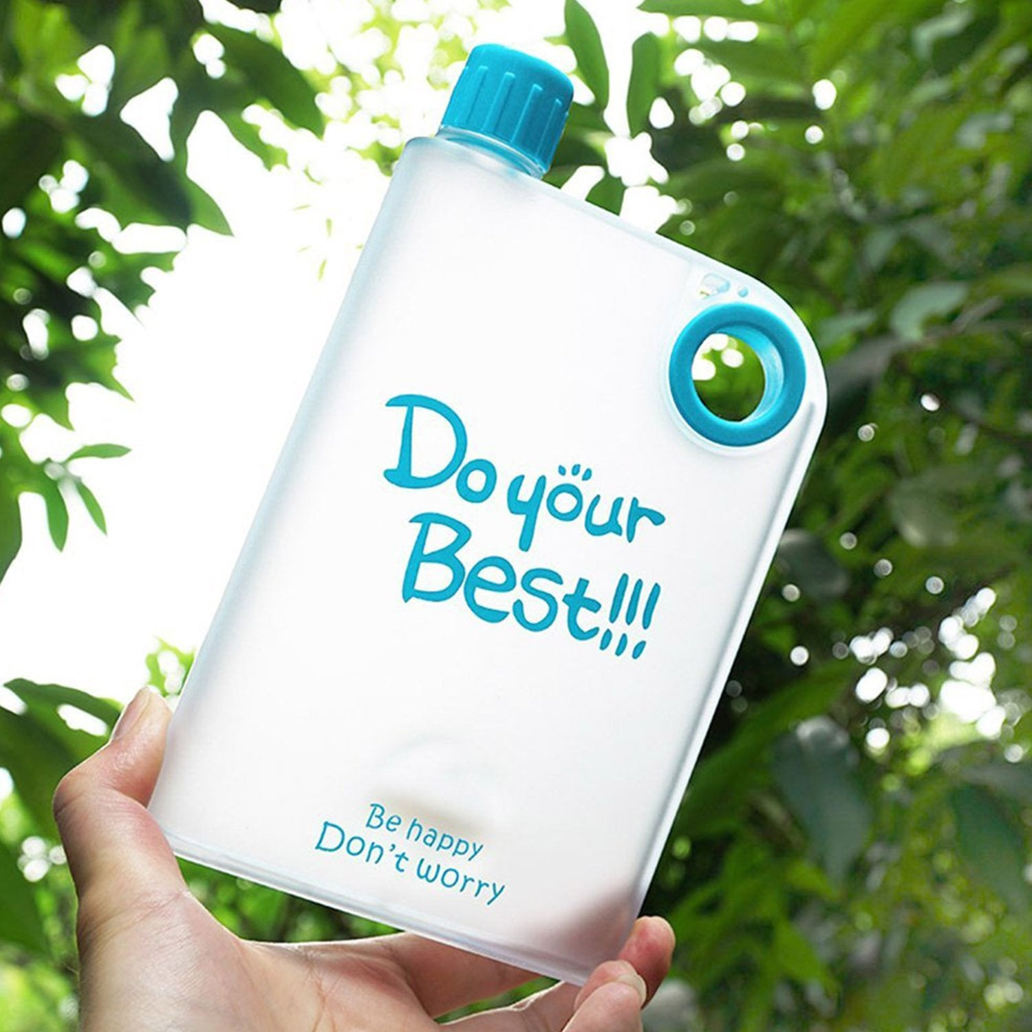 A5 SIZE MEMO BOTTLE / NOTEBOOK STYLE FLAT AND ULTRA SLIM PORTABLE BOTTLE (420 ML) - Wholesale Only