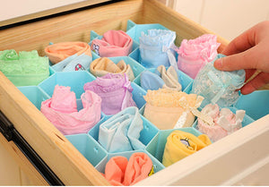 Honeycomb Closet Organizer Drawer Divider for Underwear Bras Socks Ties Scarves