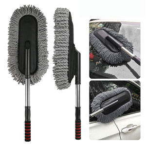 Car Cleaning Microfiber Mop Duster with Grip Extendable Handle