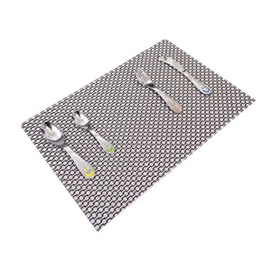 Mat for Dining Table Kitchen (Set of 10 Piece). Washable, Waterproof, Plastic