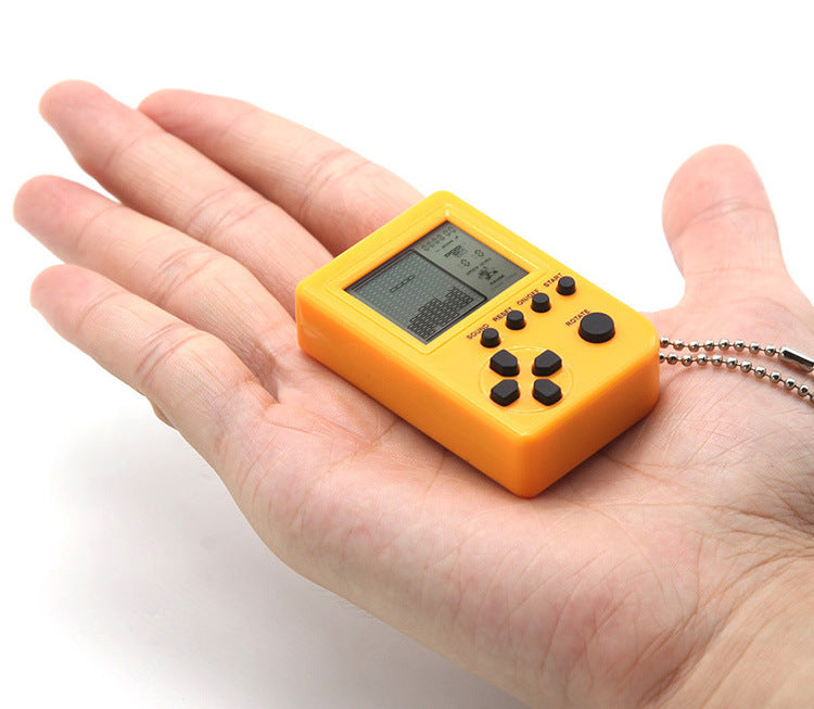 Super Mini Tetris Console Key Chain Portable Mini Brick Game Box
