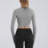 The Fitted Long Sleeve Crop Workout Tee - Bodyfitfab