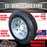 "13"" GALVANISED HT STEEL RIM & 175R13C"