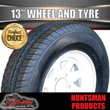 "13"" HT WHITE STEEL RIM & 165R13C"
