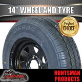 "14"" BLACK STEEL WHEEL & 185R14C TYRE SUITS FORD PATTERN"