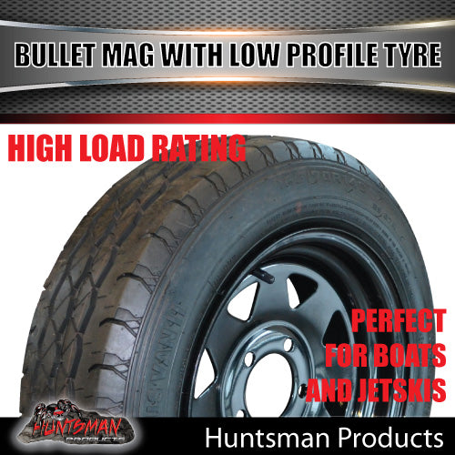 14x6 Sunraysia HT Black & 175/65R14 LT Low Profile Tyre