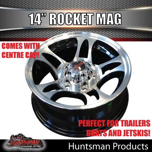 14X5.5 Rocket Alloy Mag Wheel: suits Ford pattern