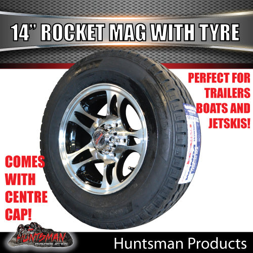 "14"" Rocket Alloy& 185R14C Tyre suits Ford pattern"
