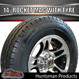 "14"" Rocket Alloy& 185R14C Tyre suits Ford pattern. 185 14"