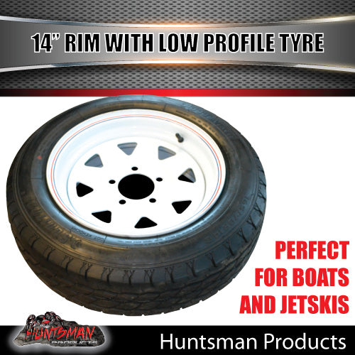 14x6 Sunraysia HQ White & 175/65R14 LT Low Profile Tyre. 175 65 14