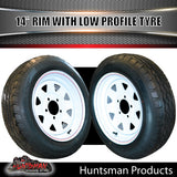14x6 Sunraysia HQ White & 175/65R14 LT Low Profile Tyre