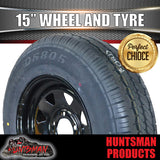 "15"" FORD PATTERN BLACK STEEL WHEEL & TYRE 225/70R15C.  225 70 15"