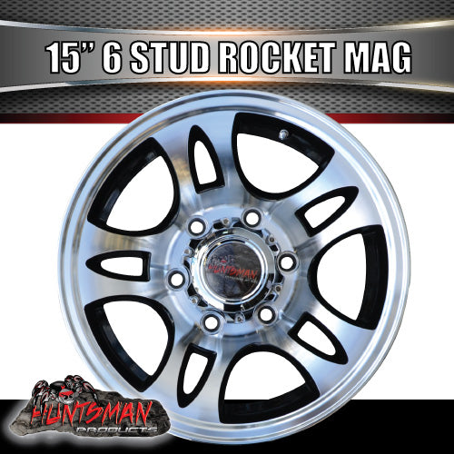 15x6 6 Stud Rocket Alloy Mag Wheel.