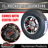 "15"" Ford Pattern Rocket Alloy & 195R15C Tyre. 195 15"