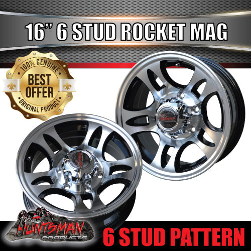 16x6 6 Stud Rocket Alloy Mag Wheel.