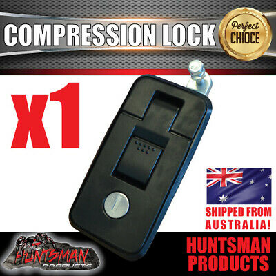 x1 Small Black Compression Lock, Push Latch,