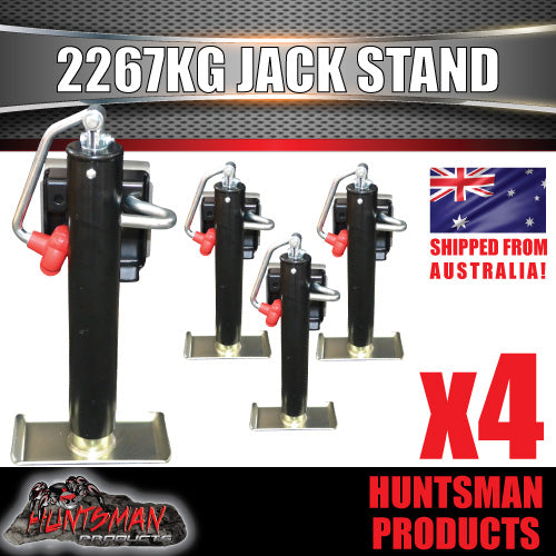 x4 trailer caravan canopy jack stands. 2267kg rated. heavy duty, 270mm extension