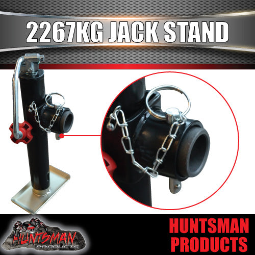 trailer caravan canopy jack stand. 2267kg rated. heavy duty, 250mm extension
