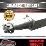 "GALVANISED AXLE 40MM SQUARE,66"".  1675MM. 1000KG"