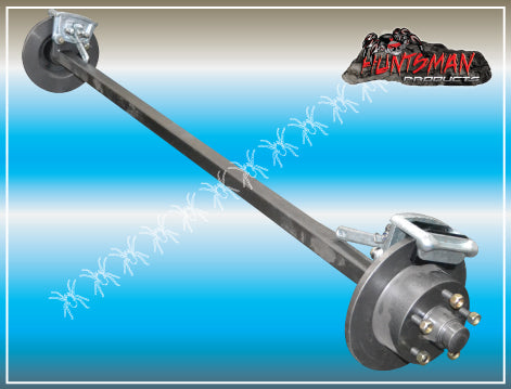 MECHANICAL DISC BRAKED TRAILER AXLE 40MM SQUARE. 1000KG